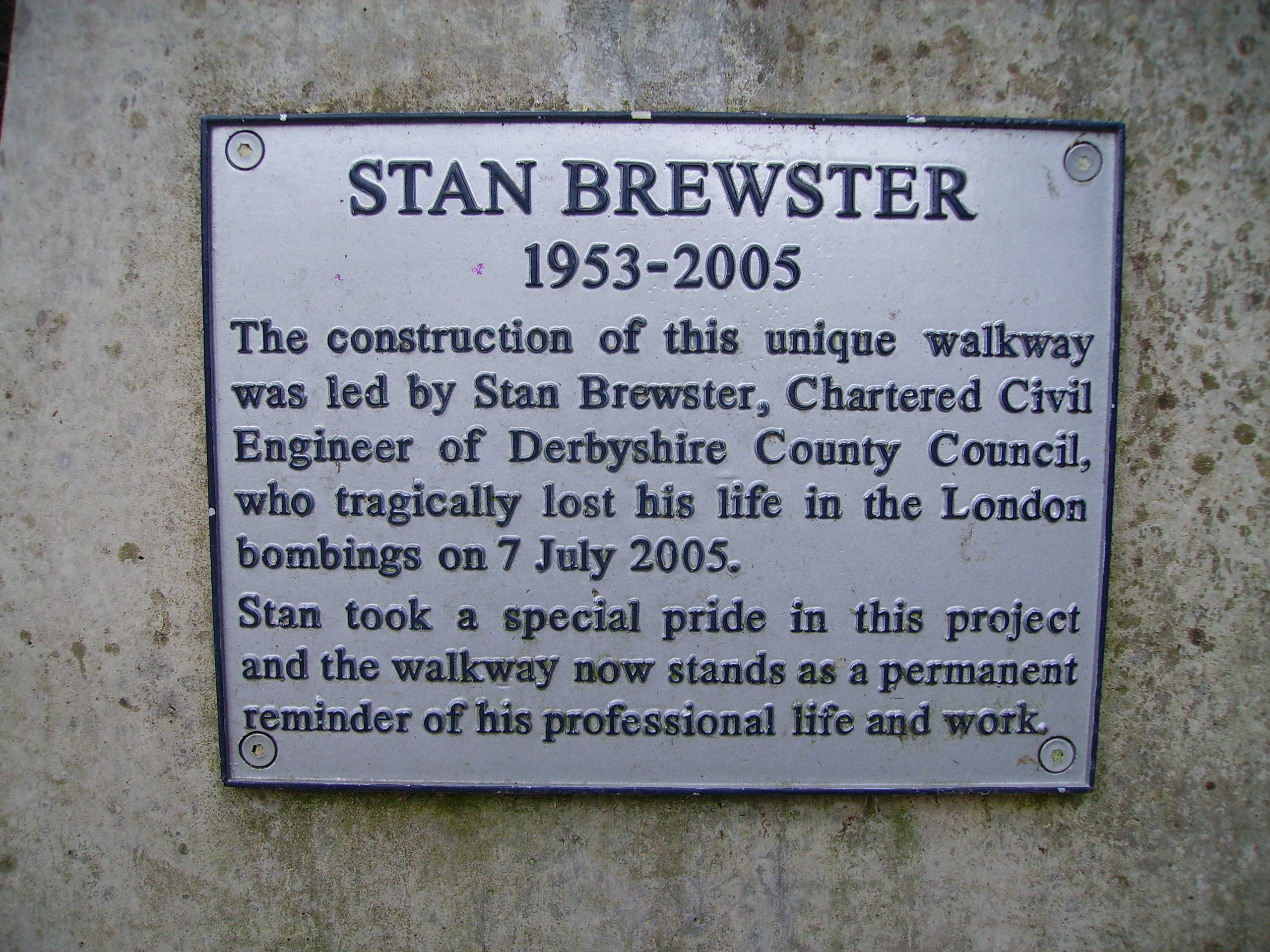 Stan Brewster's Plaque