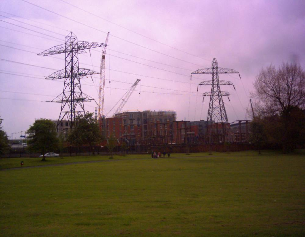 Pylons and Stuff at Philips Park